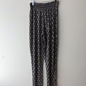 Forever 21 Smocked Waist Pants Grey Size Small